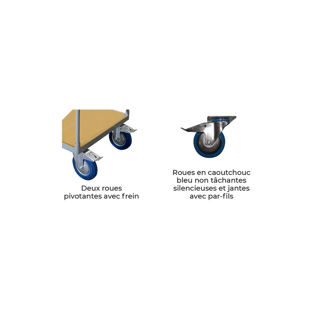 chariots timon repliable WP25R1 roues